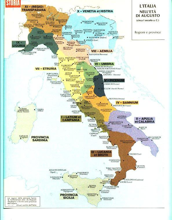 Cartina Italia Romana.Mappe Dell Italia Antica